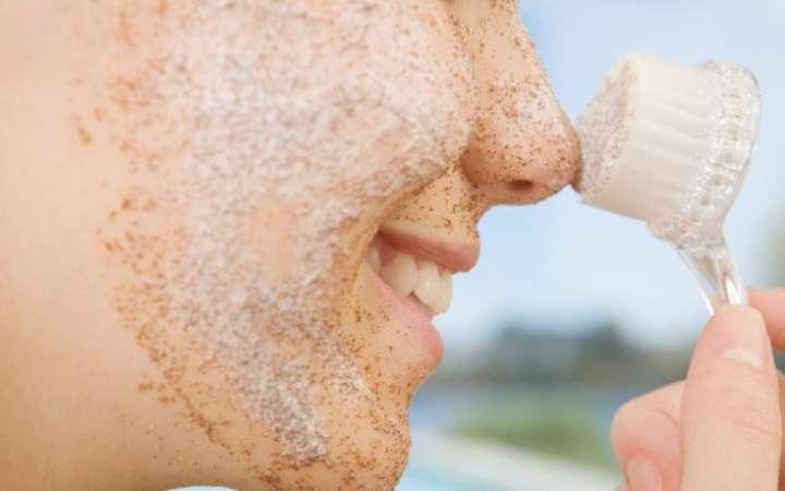 esfoliação do rosto