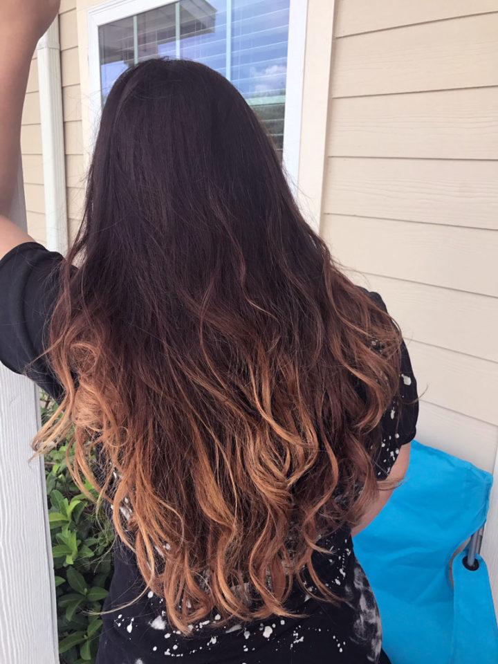 ombré hair mel