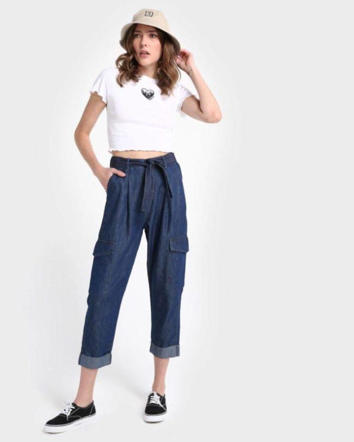 look com calça jeans cenoura