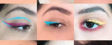 Como usar o delineador colorido?